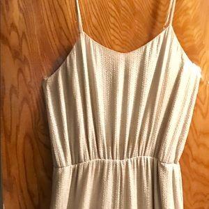 Pewter color shimmer jumpsuit